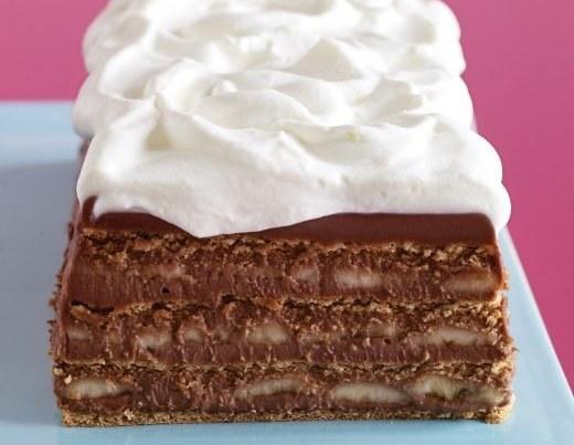 Choco Banana Graham Cake